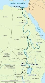 Which River Flows From South To North Quora - Main rivers in africa