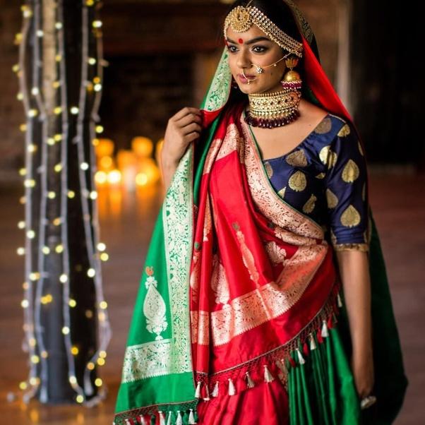 9916b0c36aeeb What Kind Of Jewellery Suits A Banarasi Saree Quora