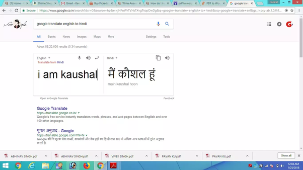 How to convert English PDF file to Hindi - Quora