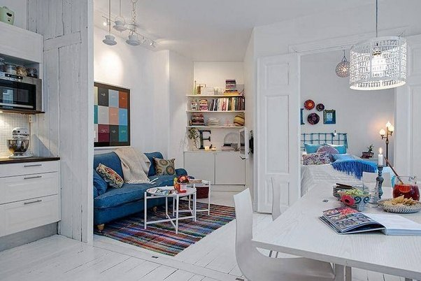 You Can Try The Scandinavian Studio Apartment Style Above! That Size  Probably Less Than Yours, But It Can Fit Everything Inside! Divider Such As  Walls And ...