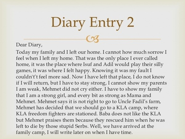 Do diary entries have paragraphs? - Quora