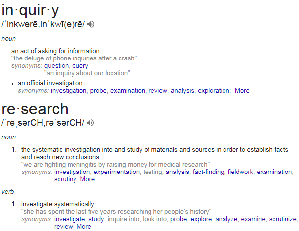 What is the relationship of inquiry and research? - Quora