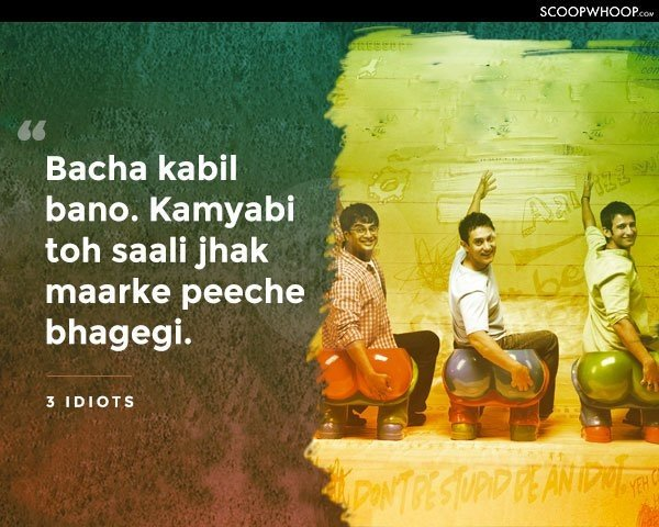 What is the most iconic hindi movie dialogue you have ever for Kabil bano kamyabi