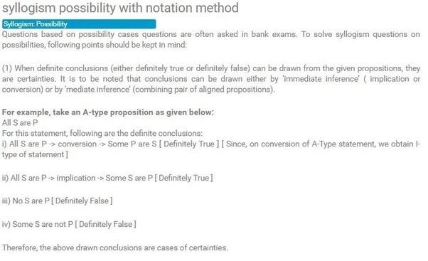 How To Solve Syllogism Possibiltiy Problem Quora