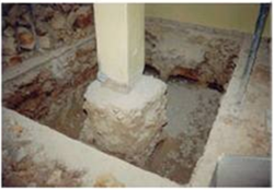 how to add a new footing against an existing footing