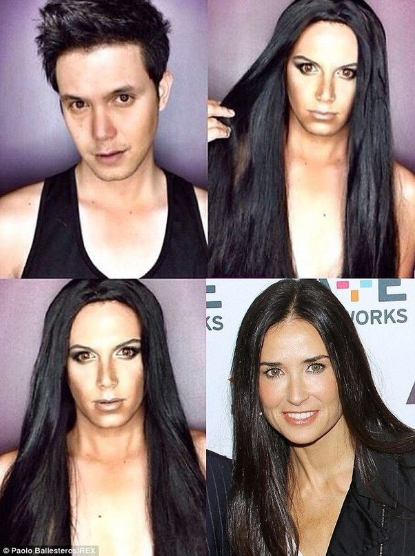 Tons Of People Around The World Use Makeup To Try And Make Themselves Look Like Their Favorite Actors Stars Etc Here Are Some Examples
