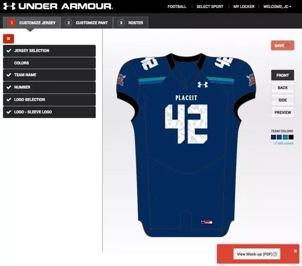 ... ncaa jerseys basketball customized nhl t-shirts. en Colaboradores OCS  por GRUPO OCS 0 Comentarios. Compartir. Pro Look Football Uniform Customizer a95034d8f