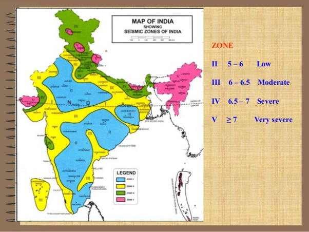 How Many Earthquake Zones Are There In India Quora