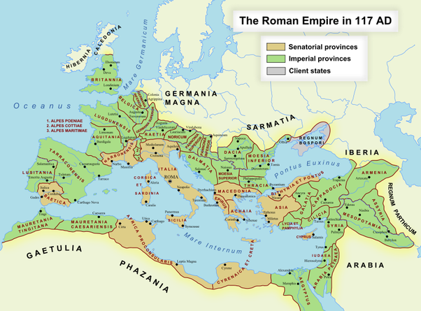 What Was The Largest Geographical Extent Of The Latin Language - Latin language map
