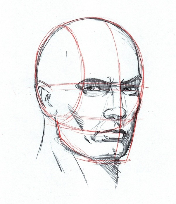 Line Drawing Of Human Face : How to draw a human face quora
