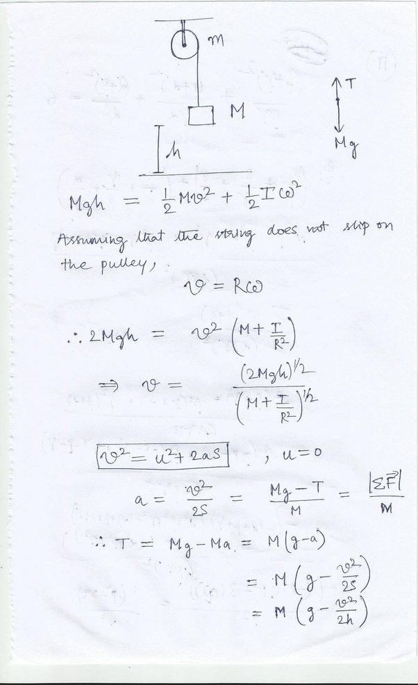 How to do this physics problem with rotational inertia - Quora