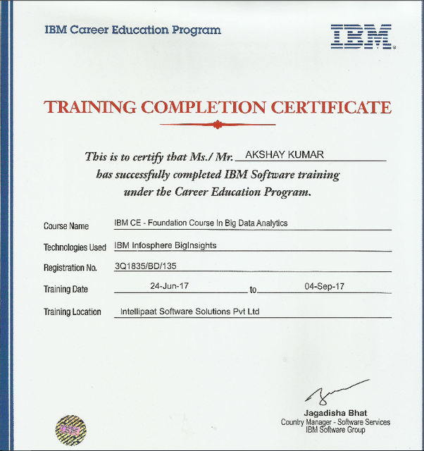 Does Intellipaat Provide Fake Ibm Hadoop Certificates Quora