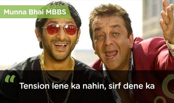 """Which Bollywood movie has the dialogue, """"Tension lene ka nahin sirf dene ka""""? - Quora"""