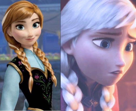Why Do Elsa And Anna From Frozen Have Different Hair Colors Aren T They Sisters Quora