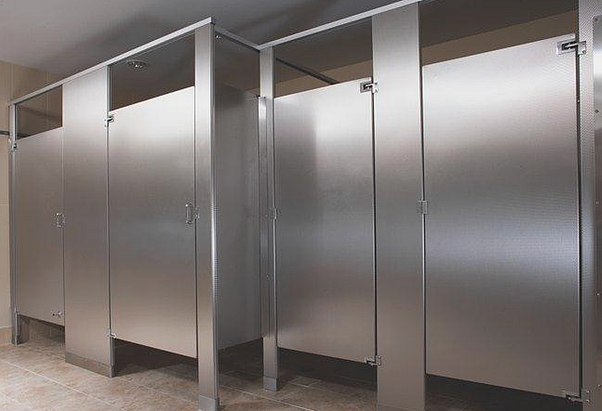 Why Do Public Bathroom Stall Doors Have Gaps On Both Sides Quora - Public bathroom stall dividers
