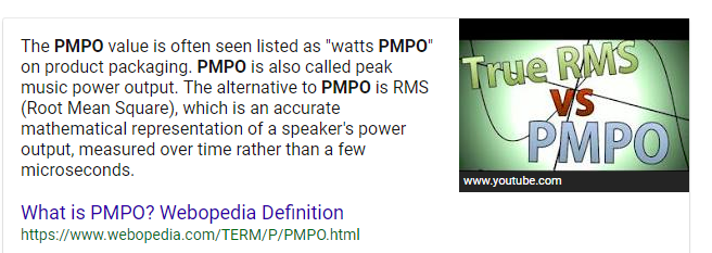 What are 100 watts of PMPO? - Quora