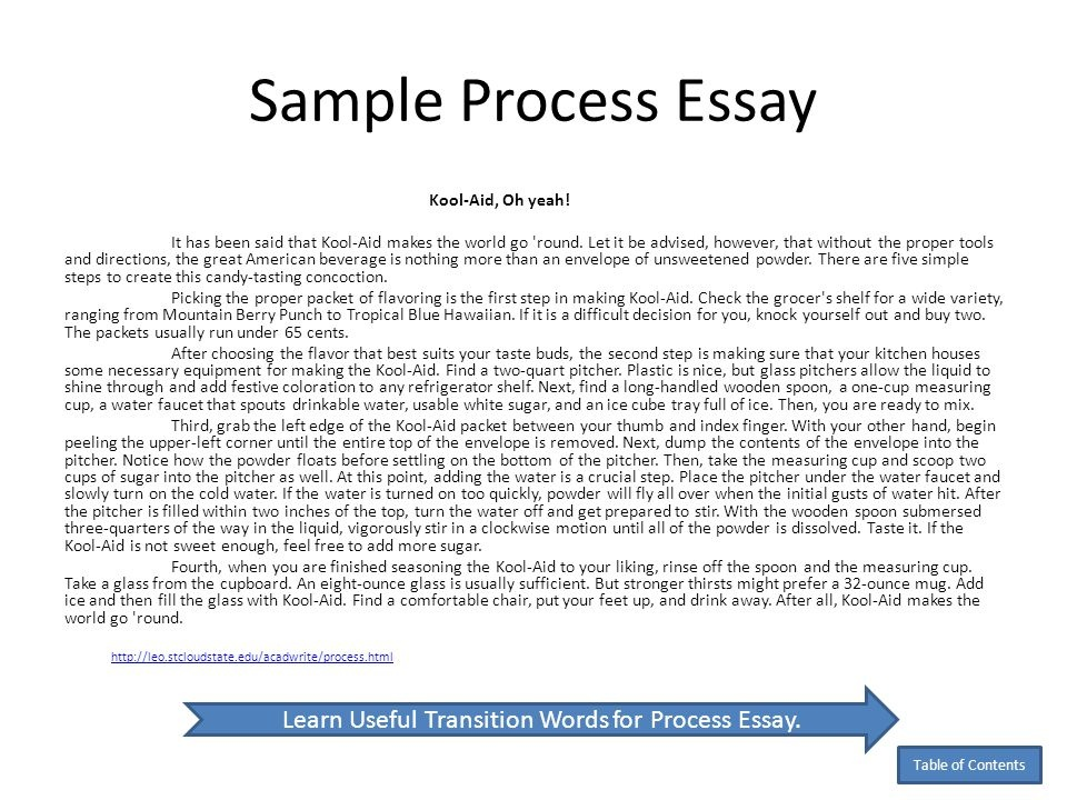 what is a process essay  quora as an example a recipe is a kind of a process essay it also can be a  handmade thing tutorial anything you can imagine