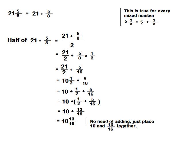 What is half of 21 5/8? - Quora