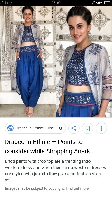 50aecbb4bef2f Crop tops with long skirts look beautiful ….you can also pair it eith  palazzo