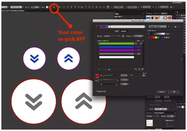 how to find the color of an objeft in illustrator