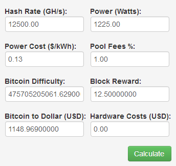 cryptocurrency mining income calculator