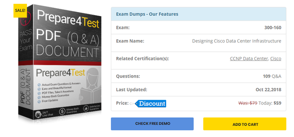 Where can i find real dumps for the ccnp data center 300-160 exam.