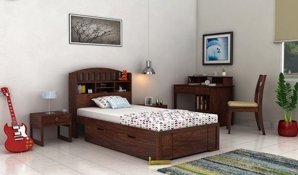 Yes, The High Quality Sheesham Wood Is Used In Crafting This Single Bed To  Add Durability.