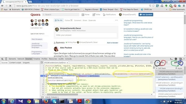 How to test JavaScript code in a browser - Quora