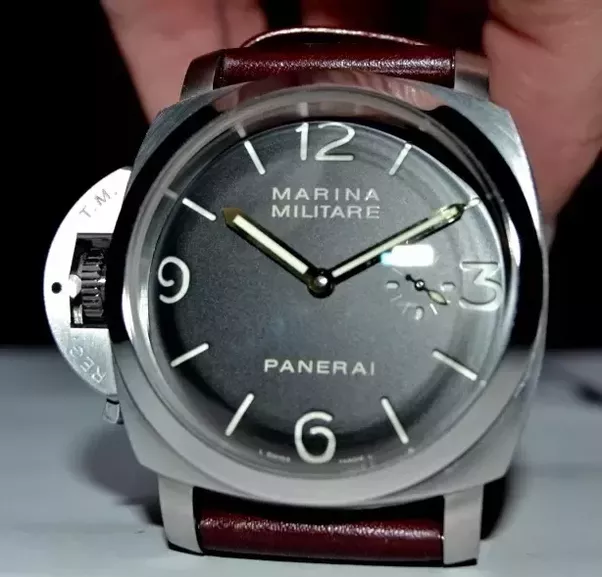 stainless store company marina beverly right panerai watches alligator destro watch hand strap steel hills militare black handed