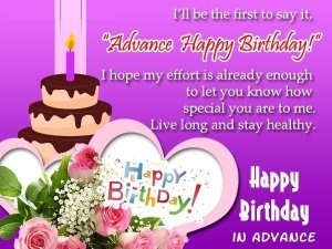 What are some good advanced birthday messages for her her birthday happy early birthday 1 quotesms2 pinterest m4hsunfo