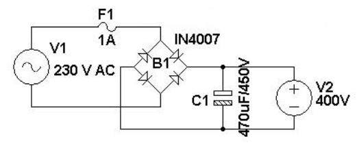 how to get 230v dc or more from 230v ac