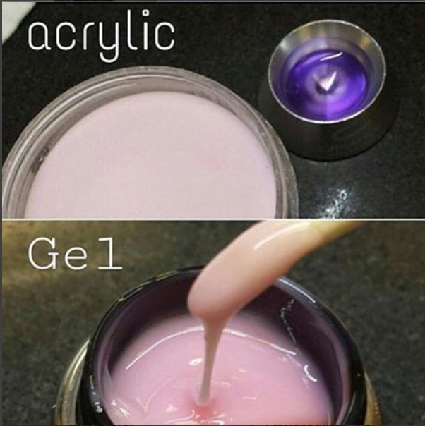 What are the differences and similarities between acrylic and gel ...