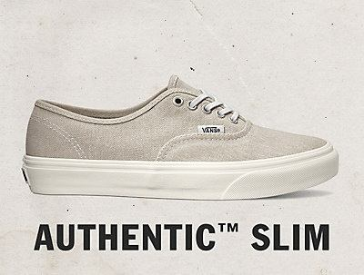 vans authentic slim w beige