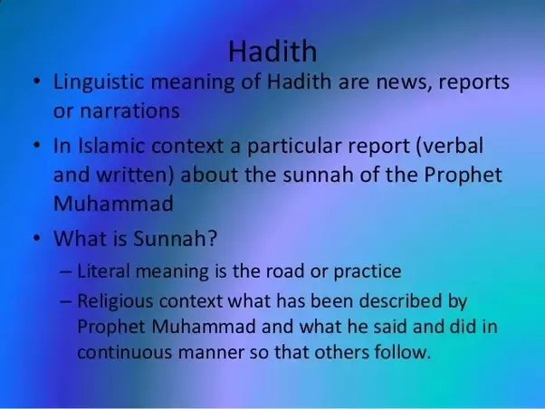 an argument of hadith being more important to islamic law than the quran Of the six important muslim collections of hadiths, bukhari and muslim are accepted as the most reliable their collections are called sahih al-bukhari and sahih muslim respectively however, most hadith seem to have originated in the second century rather than with muhammad, as explained in joseph schacht's classical article a.