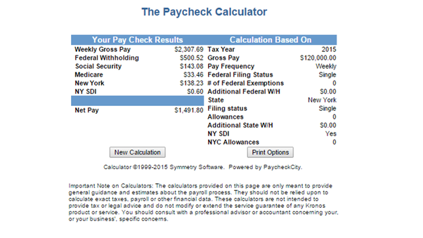 employee tax withholding calculator 2015