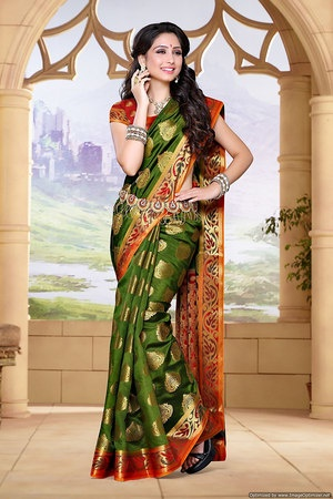 2dc8e032558c92 Which Silk saree is best to wear in wedding day  - Quora