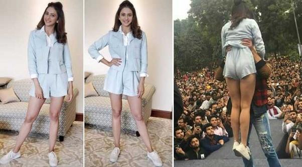 Momen Foto memalukan Artis Bollywood, rakul preet singh Malunya Tingkat Dewa