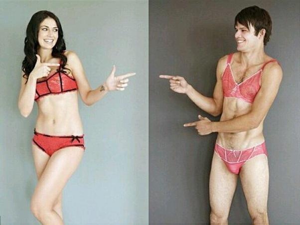 Wearing girlfriends underwear