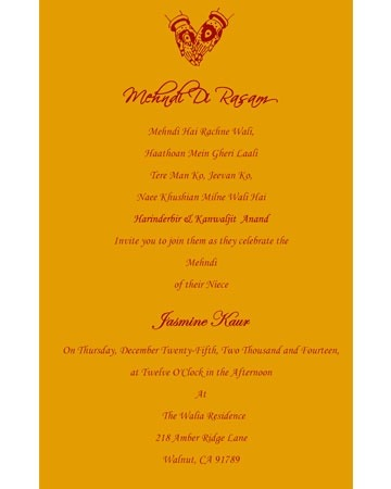What are the best indian wedding invitation wordings quora mehndi de rasam stopboris Choice Image