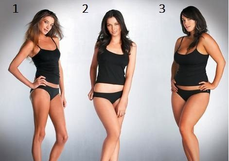 Do men prefer thin women