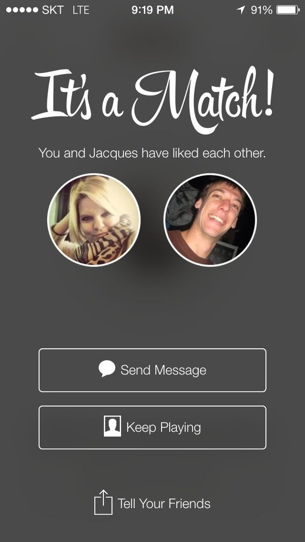 how do you get a match on tinder