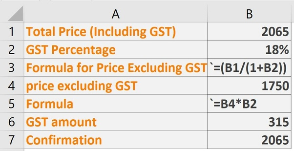 If The Total Amount Is Rs 2065 Including The Gst 18 Then