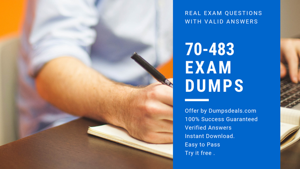Where can I download for free the 70-483 dumps on PDF or the