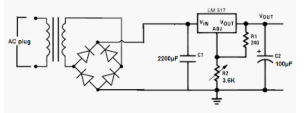 what is the purpose of resistors and capacitors within an ac to dc power supply