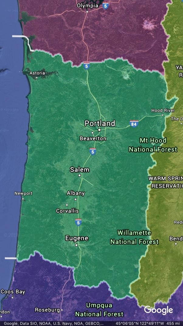 Idaho currently far eastern Oregon most of