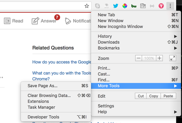 Where Can You Find The Tools Menu On Google Chrome Quora - Us Maps Tools For Chrome Os