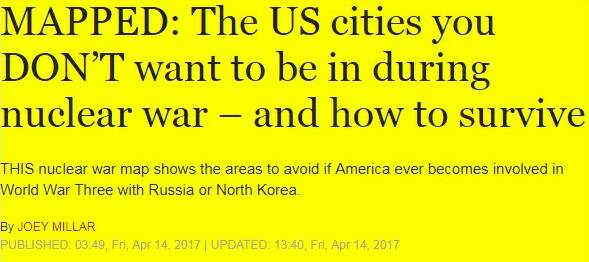 Are There Any Areas In The Usa That Will Be Safe If A Nuclear War - Nuclear-war-us-map