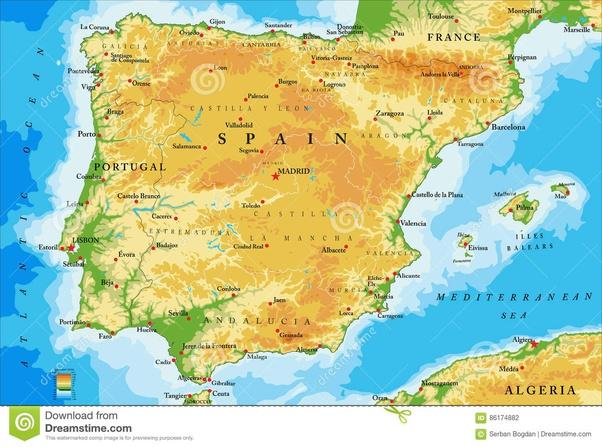 Portogallo Cartina Fisica E Politica.Perche C E Antipatia Tra Spagna E Portogallo Quora