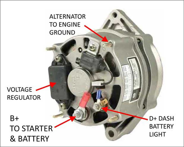 [DIAGRAM_5NL]  If I disconnect the D+ wire on my car's alternator, will the battery still  charge? - Quora | Deutz Alternator Wiring Diagram 10 Pin |  | Quora