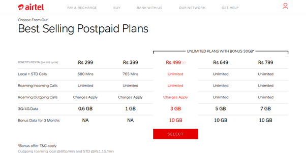 Airtel unlimited talktime offers rather
